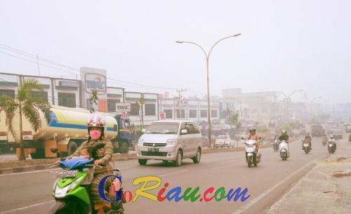 Jelang Sore ISPU di Duri 473, Pasien ISPA Akibat Karlahut Masih Nihil