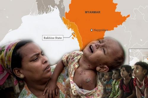 Pasca Bentrok Militan dengan Militer dan Polisi, Seribu Muslim Rohingya Eksodus dan Terdampar di Perbatasan Bangladesh