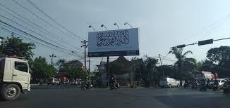 Papan Reklame Kalimat Tauhid Terpajang Dekat Rumah Jokowi, Ini Penampakannya