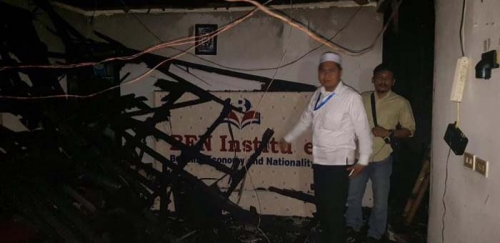 Sedang Bahas Persiapan Aksi 212, Rumah Pergerakan Tempat Rapat BEM se-Indonesia dan Aktivis Muhammadiyah Terbakar