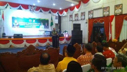 Danrem 031 Wirabima Harapkan Masyarakat Kampar Berpolitik Secara Dewasa dan Jaga Toleransi