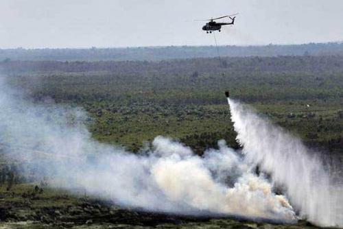 Empat Helikopter Perkuat Satgas Karlahut Riau