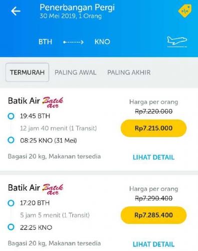 Tiket Pesawat Batam - Medan Capai Rp7 Juta, Pengusaha Travel Panen