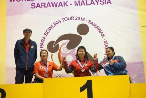 Mampu Bersaing di Tingkat Dunia, Atlet NPC Riau Raih Medali Perunggu di Kejuaraan World Para Bowling Tour 2018 Malaysia