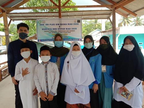 Bangkitkan Pendidikan, Tim KKN-DR Plus UIN Suska Riau Lakukan Pembelajaran Asyik bersama Anak Panti Asuhan Al-Huda