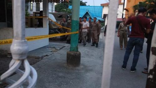 Bom Molotov di Kantor Satpol PP Pekanbaru Meledak di Dinding Penjagaan