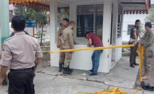 Polisi Selidiki Pelemparan Bom Molotov di Kantor Satpol PP Pekanbaru