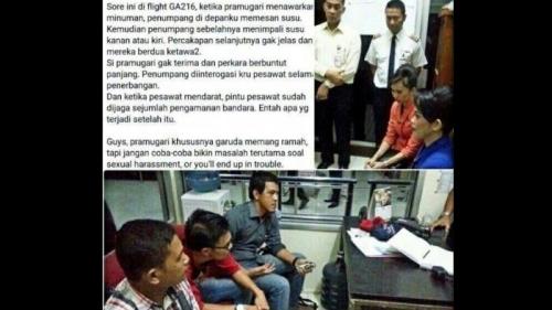 Pramugari Garuda Mengaku Alami Pelecehan Seksual di Pesawat, Ternyata Ini Dilakukan Penumpang