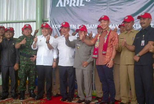 Luncurkan Program Desa Bebas Api, Grup APRIL Diapresiasi oleh Semua Pihak