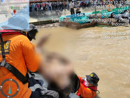 Pergi Mandi ke Pelabuhan Sungai Kuala Enok Inhil, Dermawan Ditemukan Tewas Keesokan Harinya