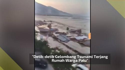 Lima Orang Sekeluarga Hilang Terseret Tsunami di Palu