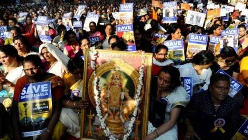 Hadang Perempuan Masuk Kuil, Lebih 2 Ribu Orang Ditangkap