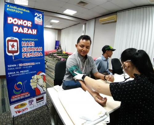 Rayakan Hari Sumpah Pemuda, XL Axiata Selenggarakan Donor Darah Serentak di 7 Kota Sumatera