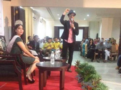 Ini Pesan Fans untuk Puteri Indonesia Riau 2016 saat Meet and Greet di Hotel Grand Zuri Duri