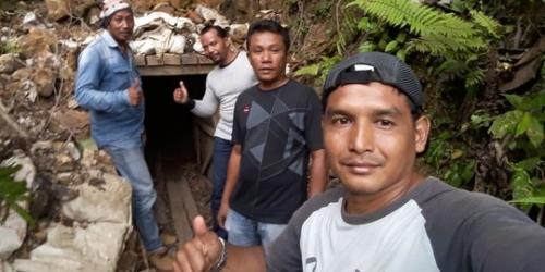 Personel Babinsa Temukan Tambang Emas Ilegal di Padang