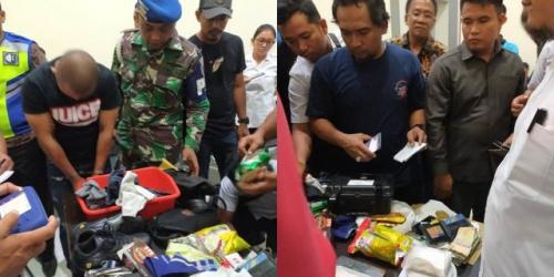Bawa Sabu 488 Gram Dibungkus Kantong Kresek, Personel Polda Diamankan Petugas Bandara