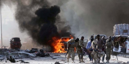 Truk Bermuatan Bom Serang Hotel, 29 Tewas, Termasuk 12 Polisi