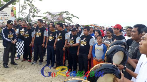 KPU Pelalawan Gerakkan Sadar Pemilu Melalui Jalan Sehat