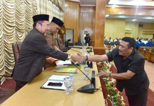 Pemkab Bengkalis Sampaikan Ranperda Penyertaan Modal Bank Riau Kepri