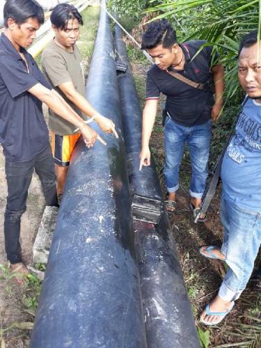 Tujuh Pencuri Minyak Mentah Digulung Jajaran Polda Riau di Bengkalis