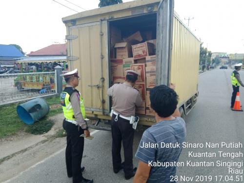 Jelang Operasi Lilin Muara Takus 2019, Polres Kuansing Tindak Pelanggar Lalulintas