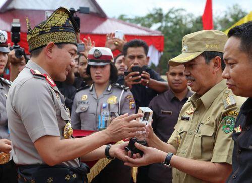 Bangun 83 Rumah Kantor Bhabinkamtibmas, Kebijakan Bupati Siak Jadi Percontohan Kepala Daerah di Indonesia