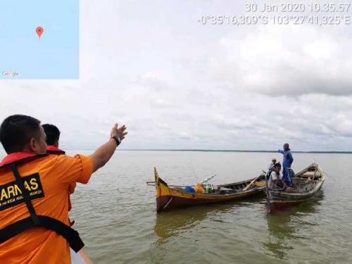 Warga Desa Pulak Kijang Inhil Hilang Sejak 26 Hari Lalu, Pompong Miliknya Ditemukan Karam