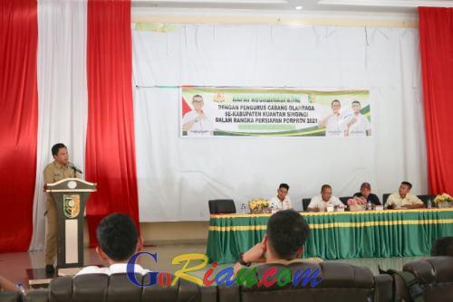 24 Cabor Kuansing Siap Hadapi Porprov Riau 2021