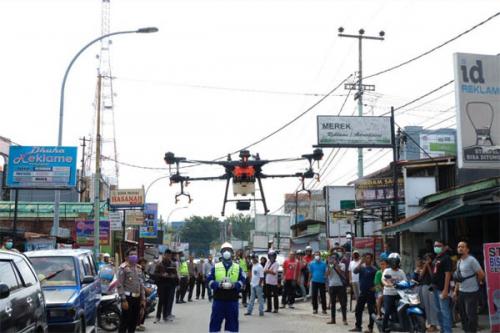 Besok, Polisi akan Semprotkan Disinfektan Serentak di Seluruh Kabupaten Kota di Riau, Untuk Pekanbaru Ini Jalan yang akan Ditutup Sementara