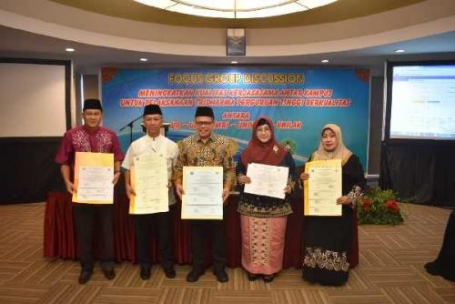 Lima Universitas di Riau Bersinergi dalam Tri Dharma Perguruan Tinggi