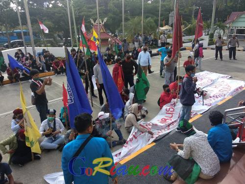 Tolak Omnibus Law, Cipayung Plus Pekanbaru: Indonesia Milik Rakyat, Bukan Investor