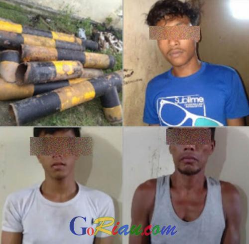 Tiga Pencuri Besi CPI Ditangkap