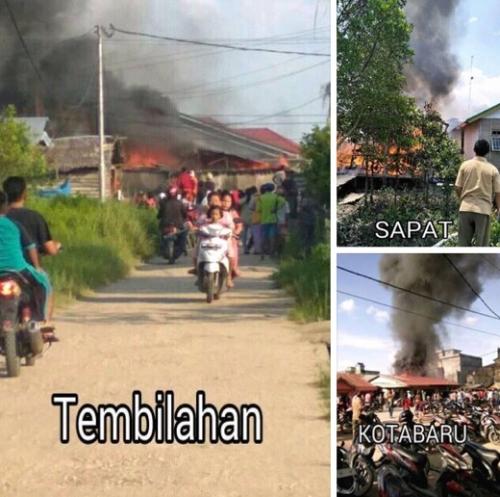 Dalam Sehari, 8 Unit Rumah di 3 Kecamatan Berbeda di Inhil Dilalap Si Jago Merah