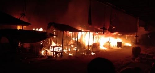 Breaking News, Pasar Air Mancur Tembilahan Terbakar