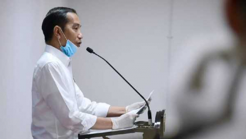 Presiden Jokowi Minta Pembatasan Sosial Skala Besar Diterapkan