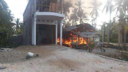 Diduga Tabung LPG Meledak, 1 Unit Rumah di Kempas Inhil Ludes Terbakar