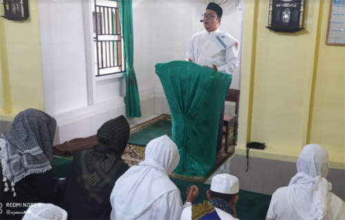 Madrasah Khalifah Usman Rohil Gelar Shalat Idul Adha Sesuai Protokol Kesehatan