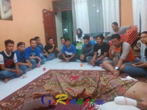 Korban Kecelakaan Kerja Adi Prasetyo, Malam ini Dikunjungi Viking Distrik Pekanbaru