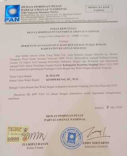 GoRiau SK PAN untuk Halim - Komperens