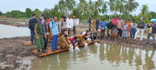 GoRiau Pelepasan bibit ikan ke kolam
