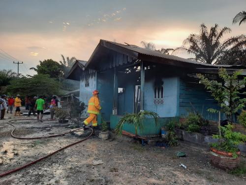 GoRiau Rumah warga yang terbakar terb